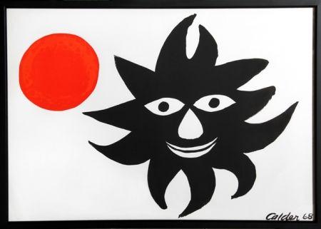Lithographie Calder - Red Sun