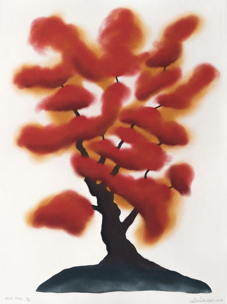 Pochoir Nash - Red tree