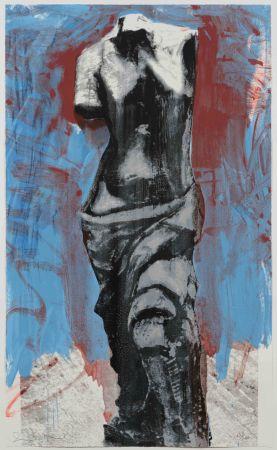 Sérigraphie Dine - Red, White and Blue Venus