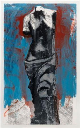 Sérigraphie Dine - Red, White & Blue Venus For Mondale