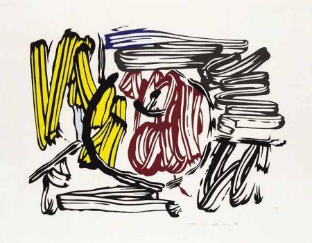 Gravure Sur Bois Lichtenstein - Red & Yellow Apple