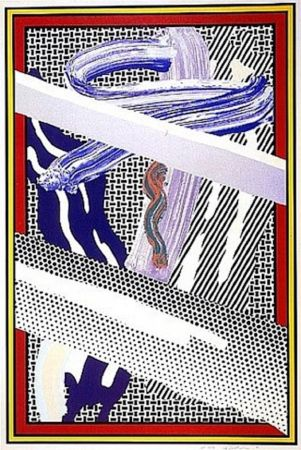 Sérigraphie Lichtenstein - Reflections On An Expressionist Painting