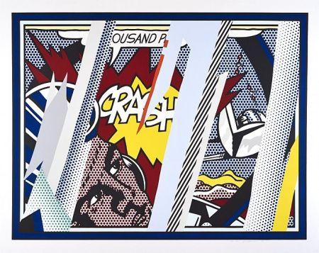 Sérigraphie Lichtenstein - Reflections on Crash