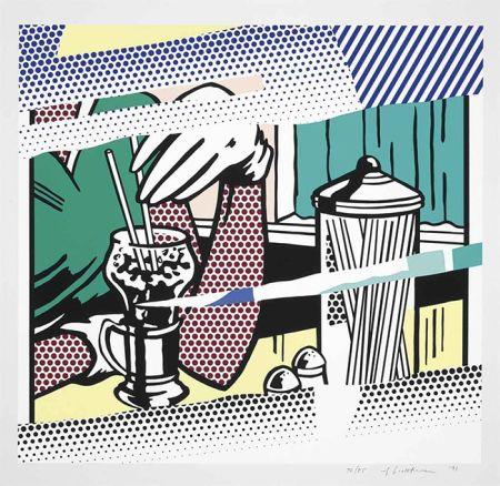 Sérigraphie Lichtenstein - REFLECTIONS ON SODA FOUNTAIN