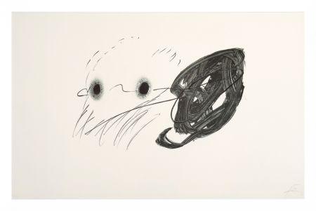 Lithographie Tapies - Regard