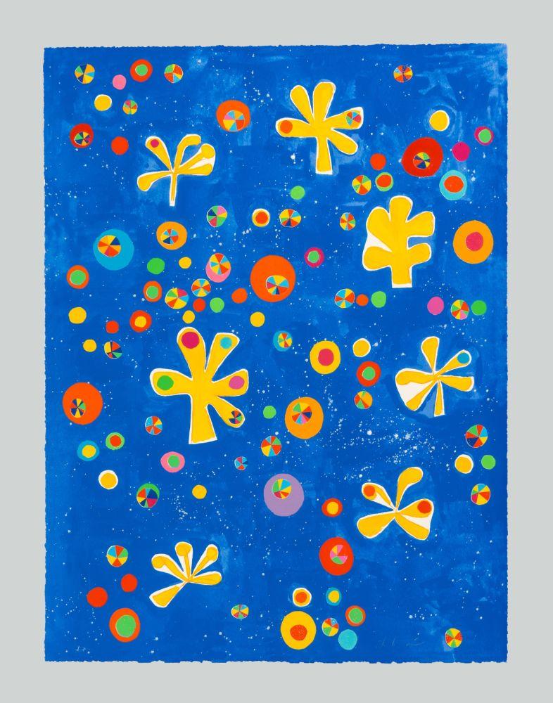 Sérigraphie De Maria - Regno dei fiori universo senza bombe pax et bonum semper tecum