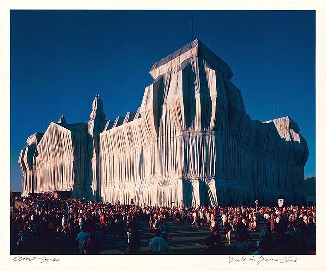 Photographie Christo - Reichstag Mappe I, 18 Uhr