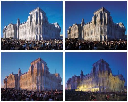 Photographie Christo - Reichstag Mappe I, 4 Blatt + 2 Text