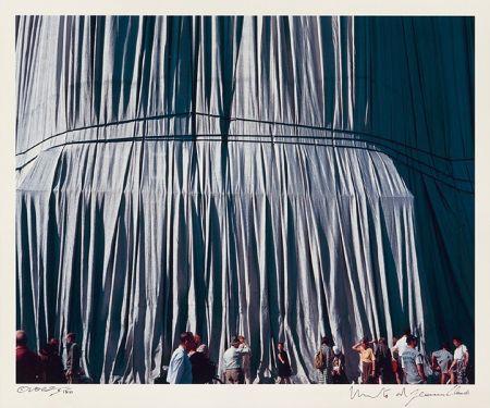 Photographie Christo - Reichstag Mappe II, Faltenwurf