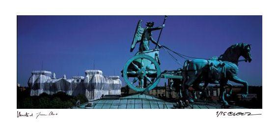 Photographie Christo - Reichstag Quadriga