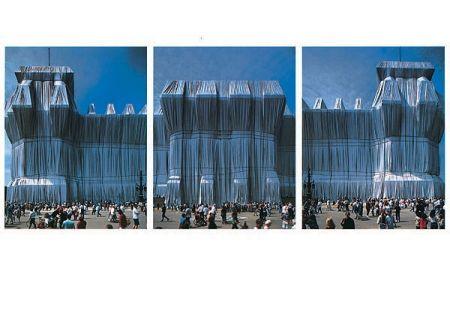 Photographie Christo - Reichstag Westfassade Triptychon