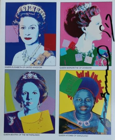Sérigraphie Warhol - Reigning Queens (invitation)