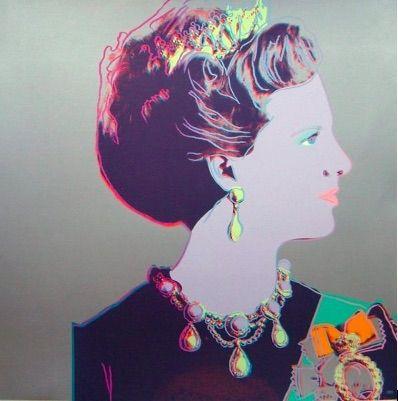 Sérigraphie Warhol - Reigning Queens, Queen Margrethe II of Denmark