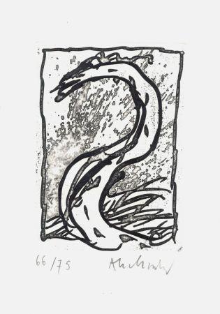 Eau-Forte Alechinsky - '' Rein, comme si de rien ''
