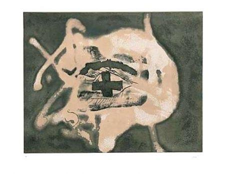 Gravure Tàpies - Relief Sable