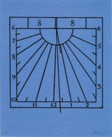 Lithographie Brossa - Rellotge de sol