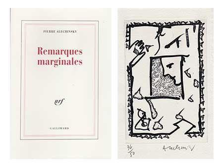 Livre Illustré Alechinsky - Remarques Marginales