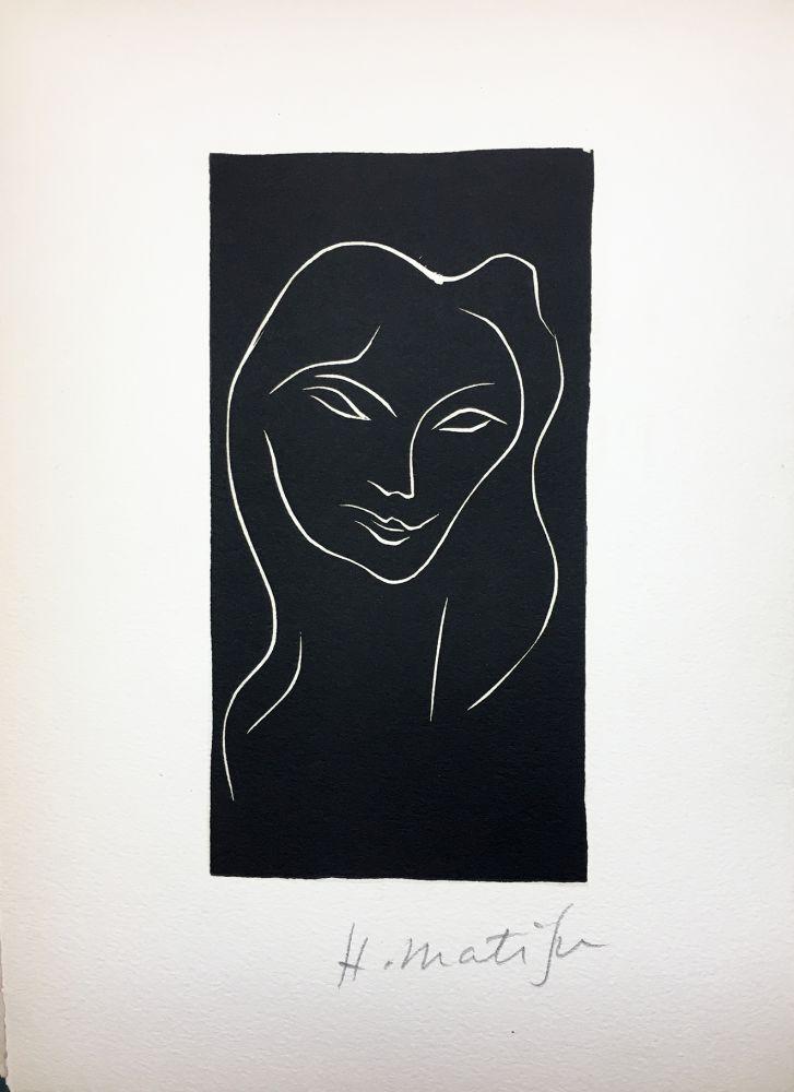 Livre Illustré Matisse - René Char : LE POÈME PULVÉRISÉ. Linogravure originale signée (1947).