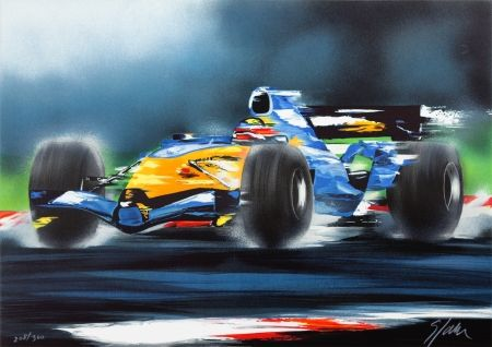 Lithographie Spahn - Renault F1