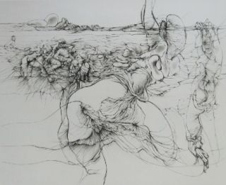 Eau-Forte Et Aquatinte Bellmer - Rencontre à l'Ile de Ré