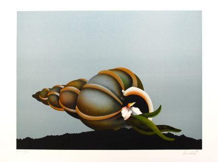 Lithographie Donadini - Repos marin
