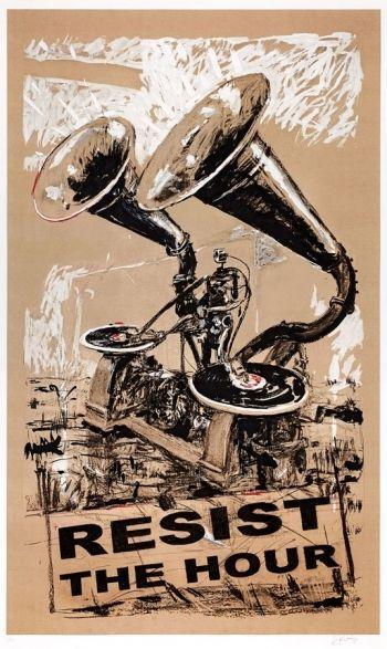 Sérigraphie Kentridge - Resist The Hour