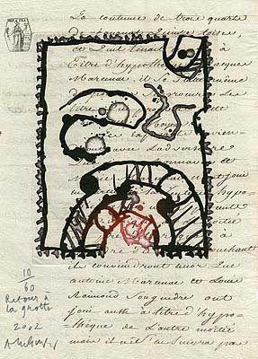Gravure Alechinsky - Retour à la grotte