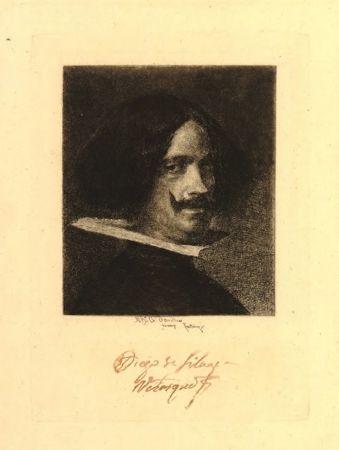 Gravure Fortuny I Marsal - Retrato de Velázquez