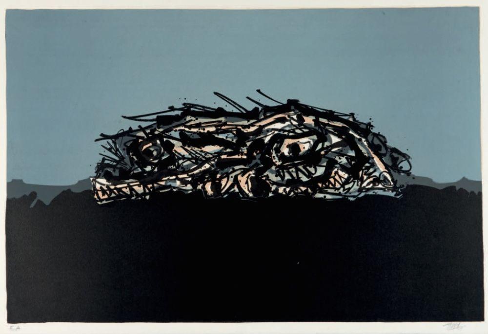 Lithographie Saura - Retrato imaginario de Goya