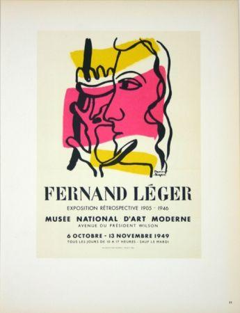 Lithographie Leger - Retrospective  Musée D'Art Moderne