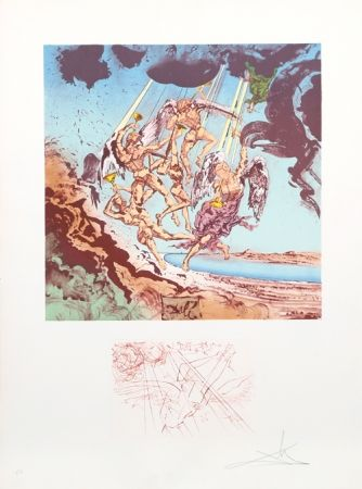 Lithographie Dali - Return of Ulysses from Homage a Homere