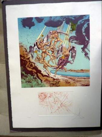 Lithographie Dali - Return Of Ulysses (Homage To Homer)