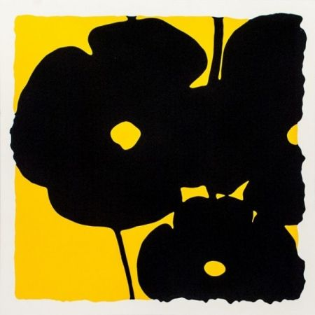 Sérigraphie Sultan - Reversal Poppies-Yellow