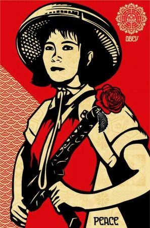 Sérigraphie Fairey - Revolution Woman