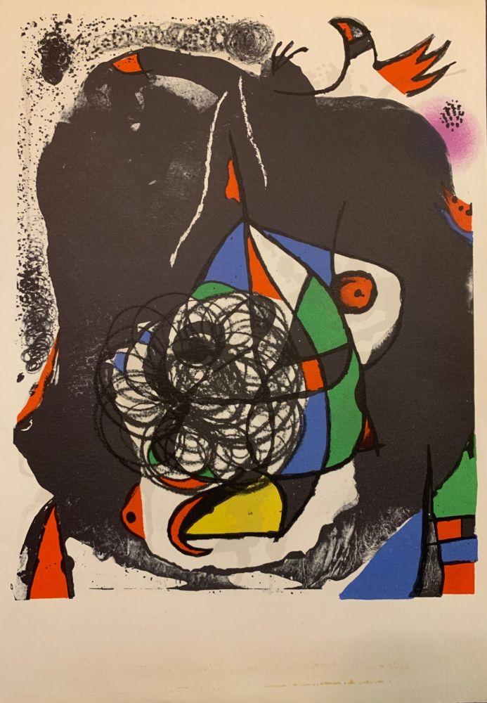 Lithographie Miró - Revolutions I