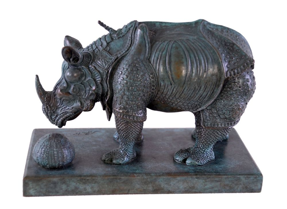 Multiple Dali - Rhinoceros Dressed in Lace - Rhinocéros habillé en dentelles