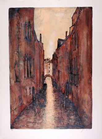 Lithographie Gantner - Rio à Venise