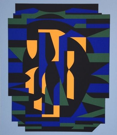 Sérigraphie Vasarely - Risir, from Ion Album