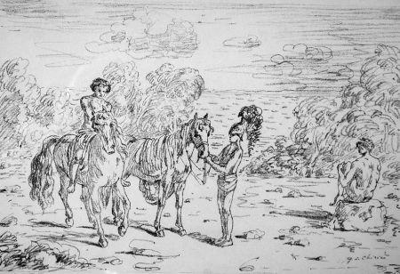 Lithographie De Chirico - Ritorno alla sponda di Corinto