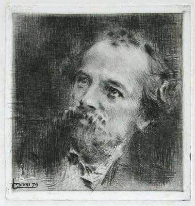 Gravure Conconi - RITRATTO DI TRANQUILLO CREMONA (Portrait of Tranquillo Cremona)