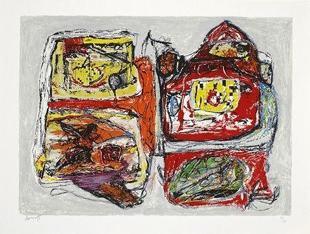 Lithographie Doucet - Rivages-visages-paysages du Sepik