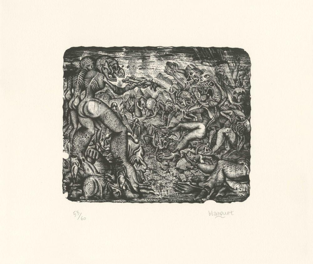 Lithographie Blanquet - Rixe Urticante
