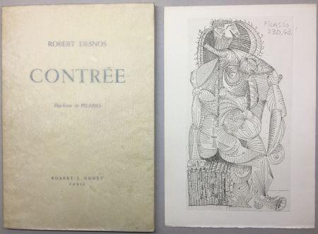 Livre Illustré Picasso - Robert Desnos. CONTRÉE.