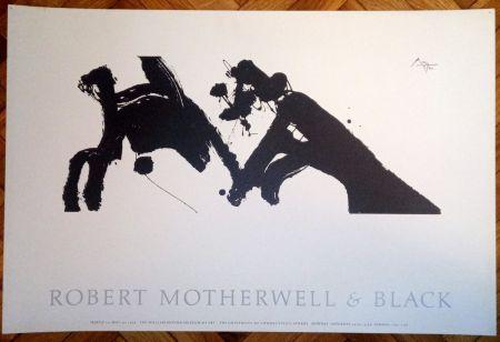 Affiche Motherwell - Robert Motherwell & Black