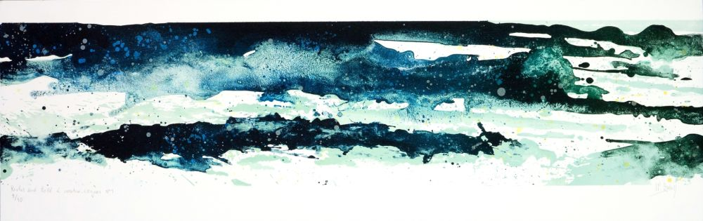 Lithographie Stholl - Roches & roll à contre vague 1