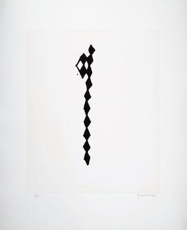 Gravure Hernandez Pijuan - Rofe negro IV