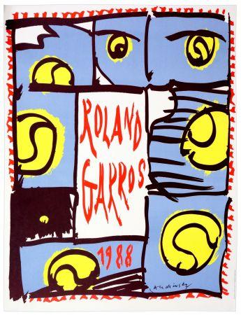 Affiche Alechinsky - Roland Garros