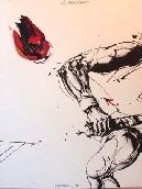 Lithographie Velickovic - Roland Garros