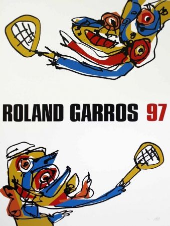 Sérigraphie Saura - Roland Garros 97