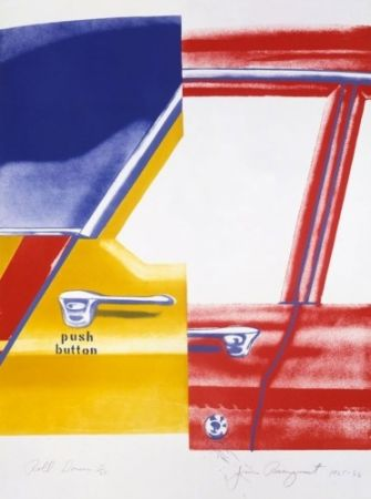 Lithographie Rosenquist - Roll Down